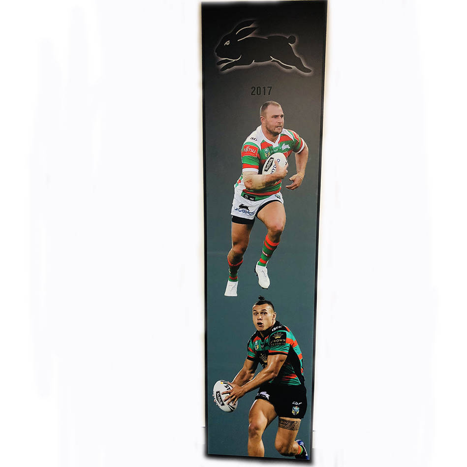 main2017 Rabbitohs Wall Plaque featuring Robbie Rochow & Tyrell Fuimaono0