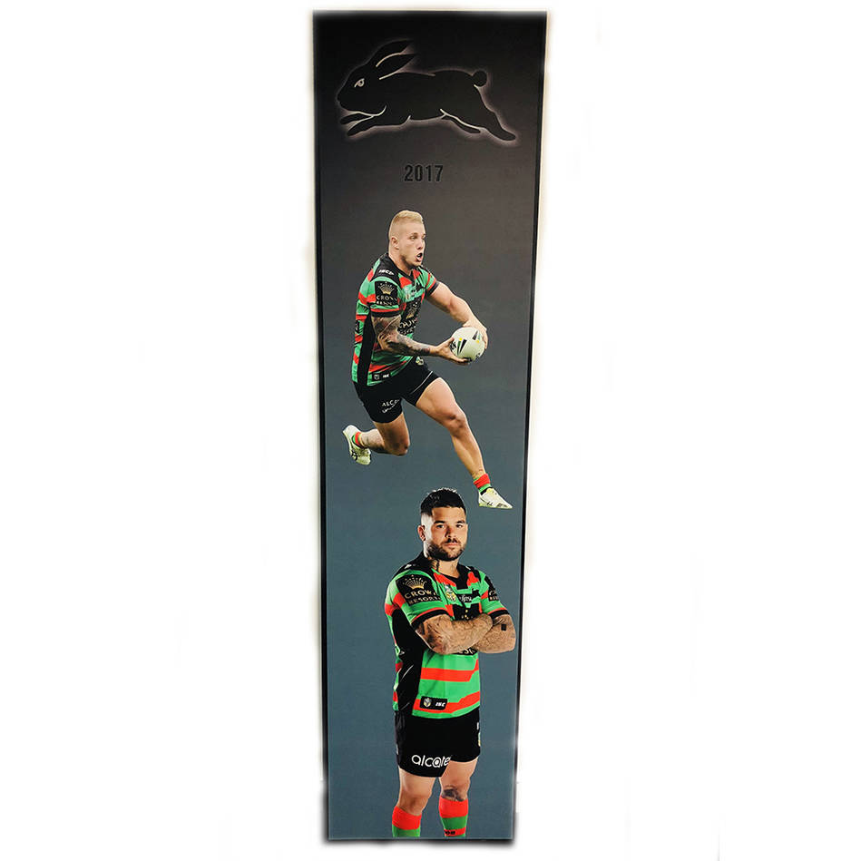 main2017 Rabbitohs Wall Plaque featuring Aaron Gray & Adam Reynolds0