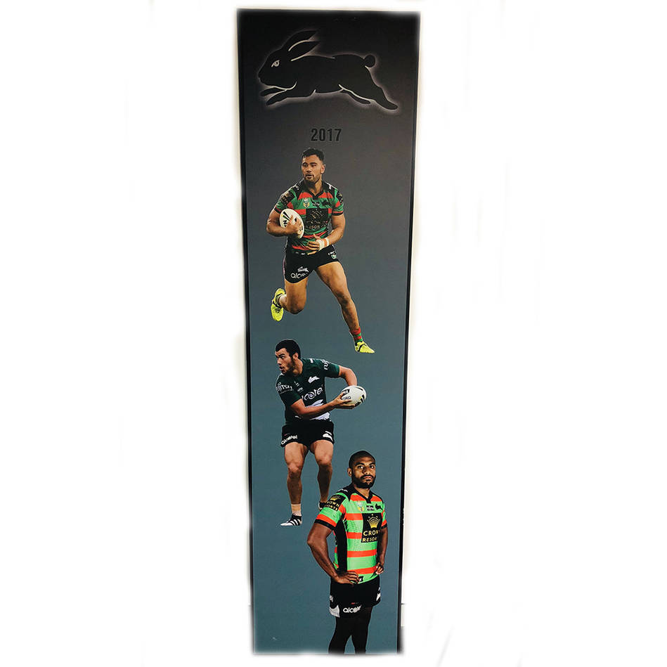 main2017 Rabbitohs Wall Plaque featuring Zane Musgrove, Toby Rudolf & Sitiveni Moceidreke0