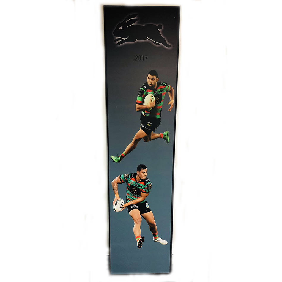 main2017 Rabbitohs Wall Plaque featuring Alex Johnston & Anthony Cherrington0