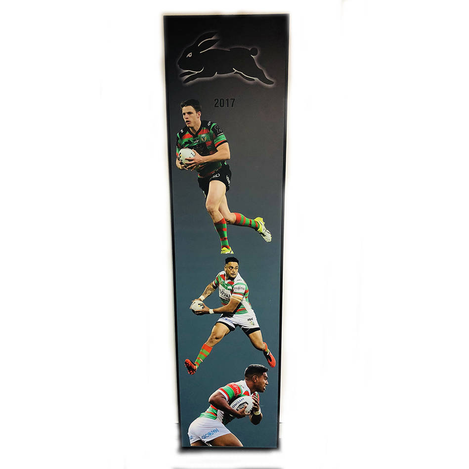 main2017 Rabbitohs Wall Plaque featuring Jack Gosiewski, John Sutton & Hymel Hunt0