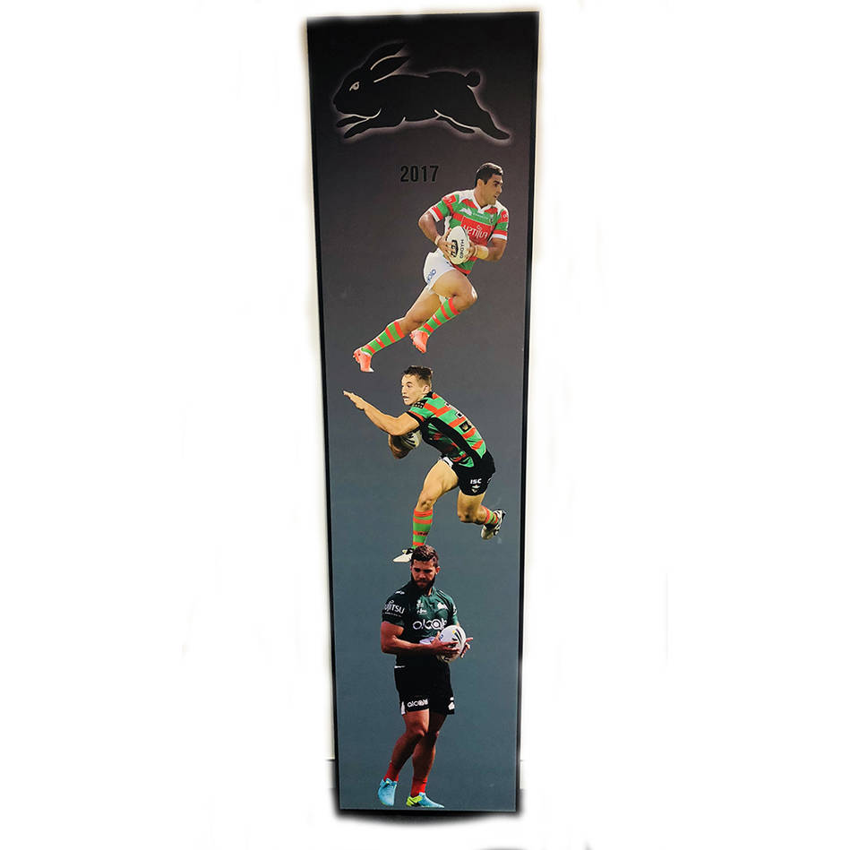 main2017 Rabbitohs Wall Plaque featuring Bryson Goodwin, Cameron Murray & Brett Greinke0