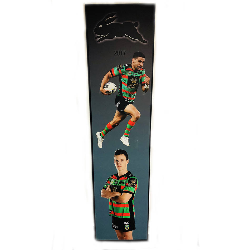 main2017 Rabbitohs Wall Plaque featuring Cody Walker & Connor Tracey0