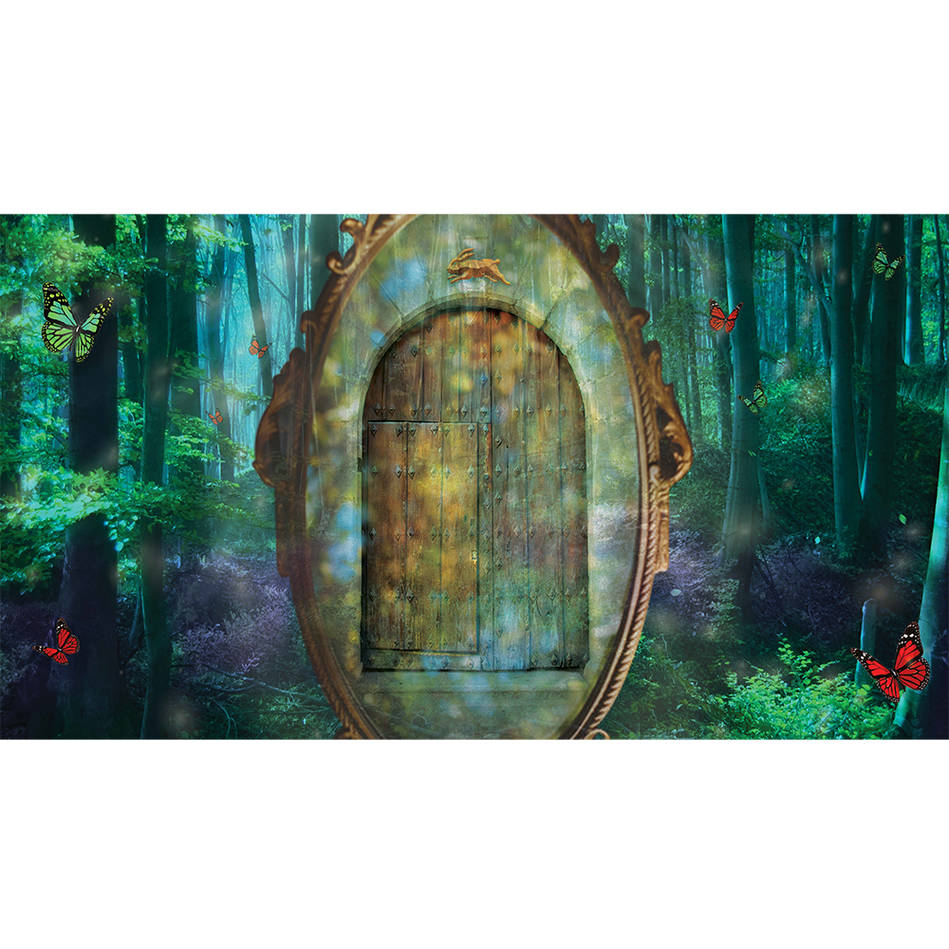 main2016 Red & Green Ball Enchanted Forest Stage Back Drop0