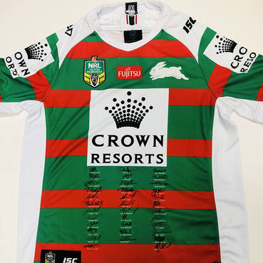 2018 Squad Signed South Sydney Rabbitohs Away Jersey