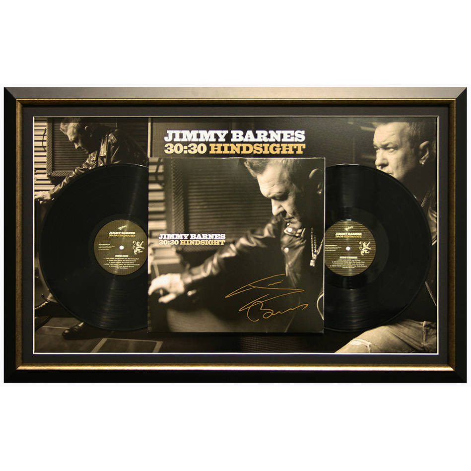mainJimmy Barnes signed 30:30 Hindsight Lp0