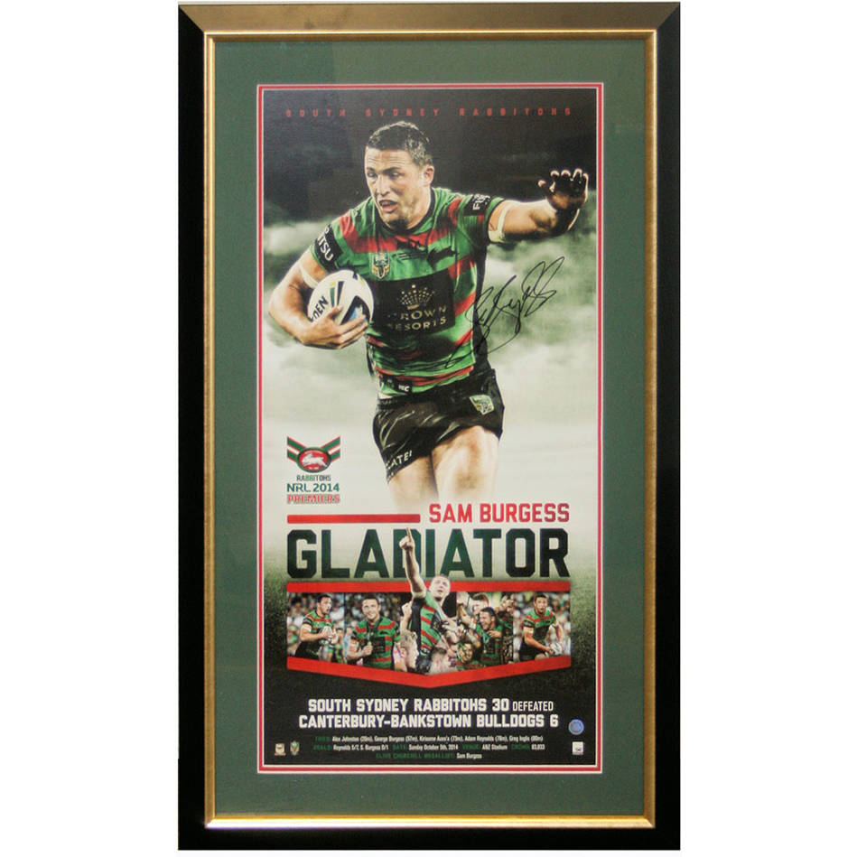 mainSam Burgess signed Gladiator Print Framed0