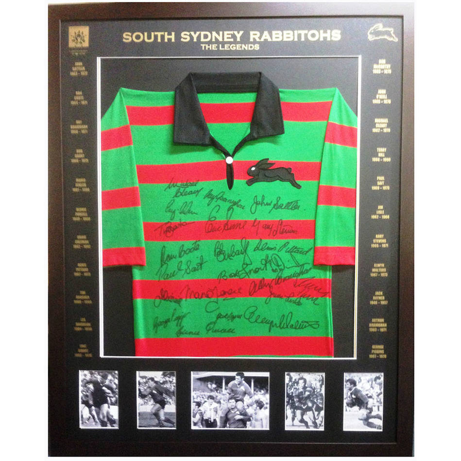 mainSouth Sydney Legends signed L/Ed Jersey0