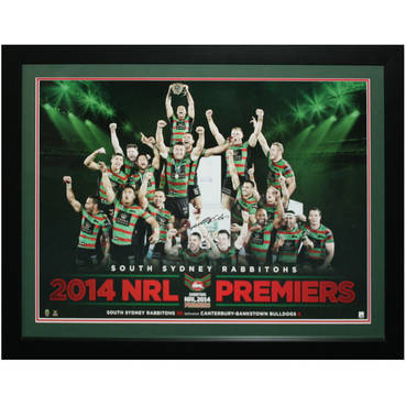 2014 South Sydney Rabbitohs Celebration print Signed by Adam Reynolds