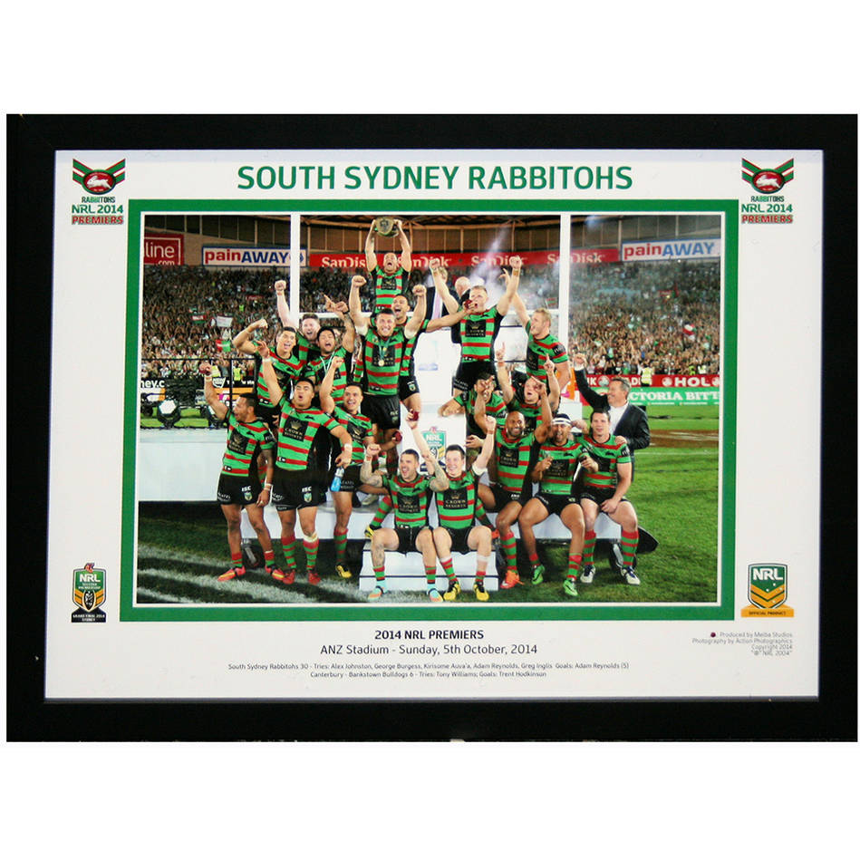 main2014 South Sydney Rabbitohs Celebration Photo Framed0
