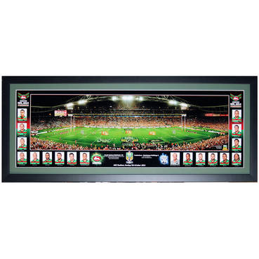 2014 South Sydney Rabbitohs Premiers Team Pano Framed