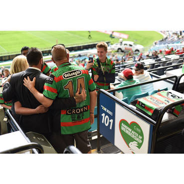 Un-catered 8 Seat Open Box at ANZ Stadium for the remaining home games of the 2018 Rabbitohs Season (2 of 2)