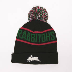 Rabbitohs Black Bar Beanie