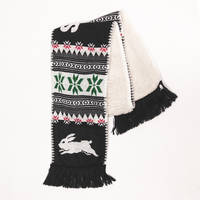 Rabbitohs Fluffy Knit Scarf0