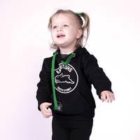 2018 Infants Black Logo Hoodie1