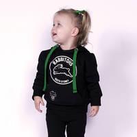 2018 Infants Black Logo Hoodie2