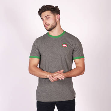 Mens Grey Heathered Tee