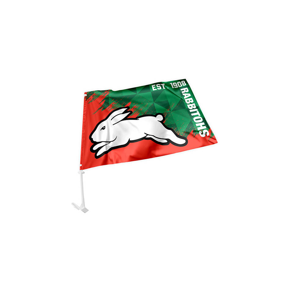 Rabbitohs Car Flag0