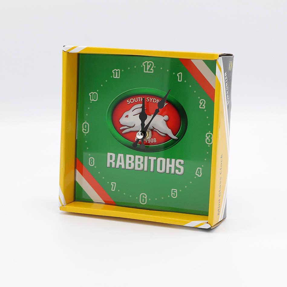 mainRabbitohs Team Glass Clock0