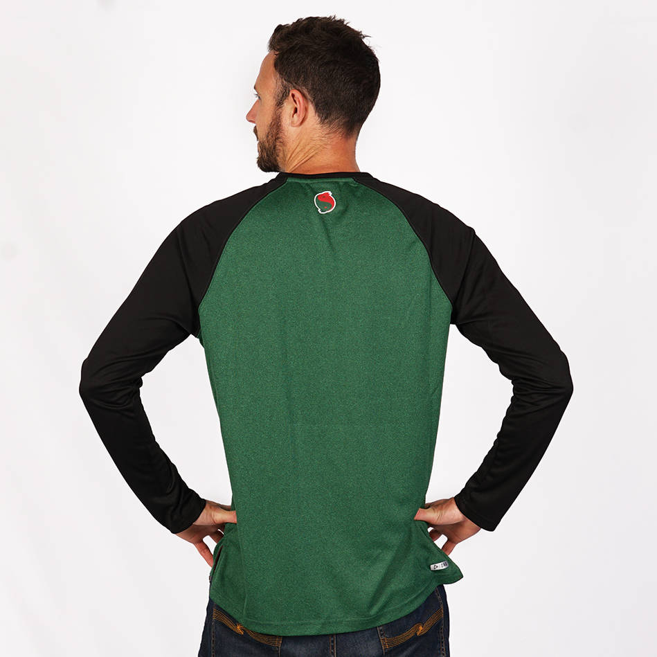 2019 Mens Green Warm Up Top1