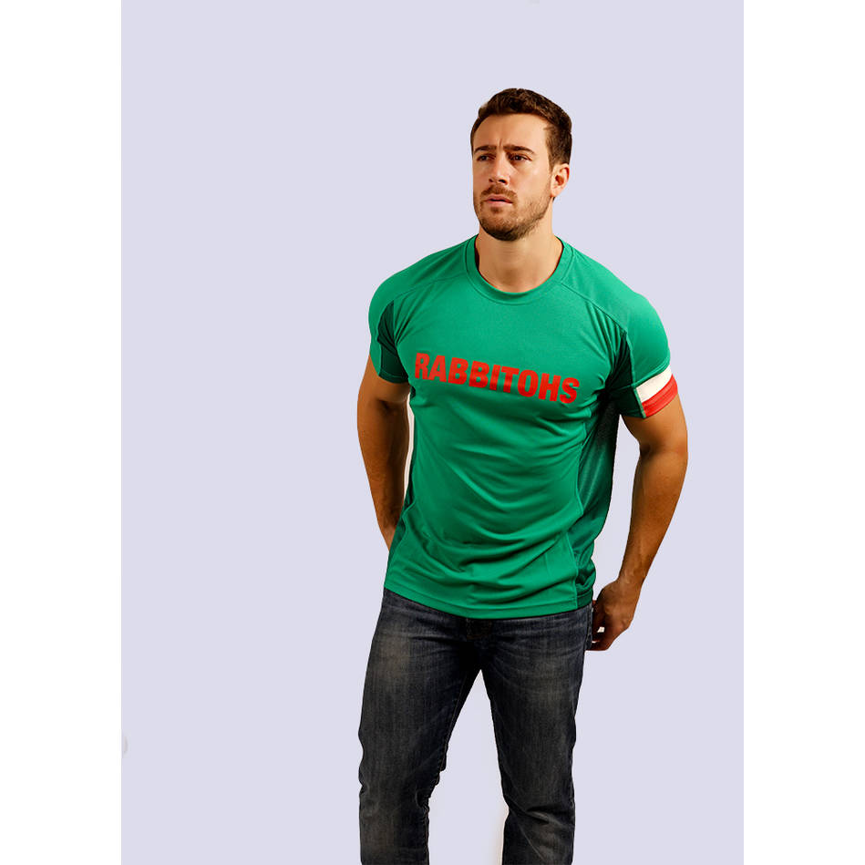 Mens Green  Performance Classic Tee2