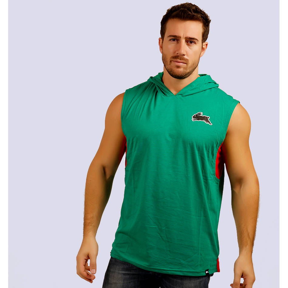 Mens Classic Green Sleeveless Hoody0