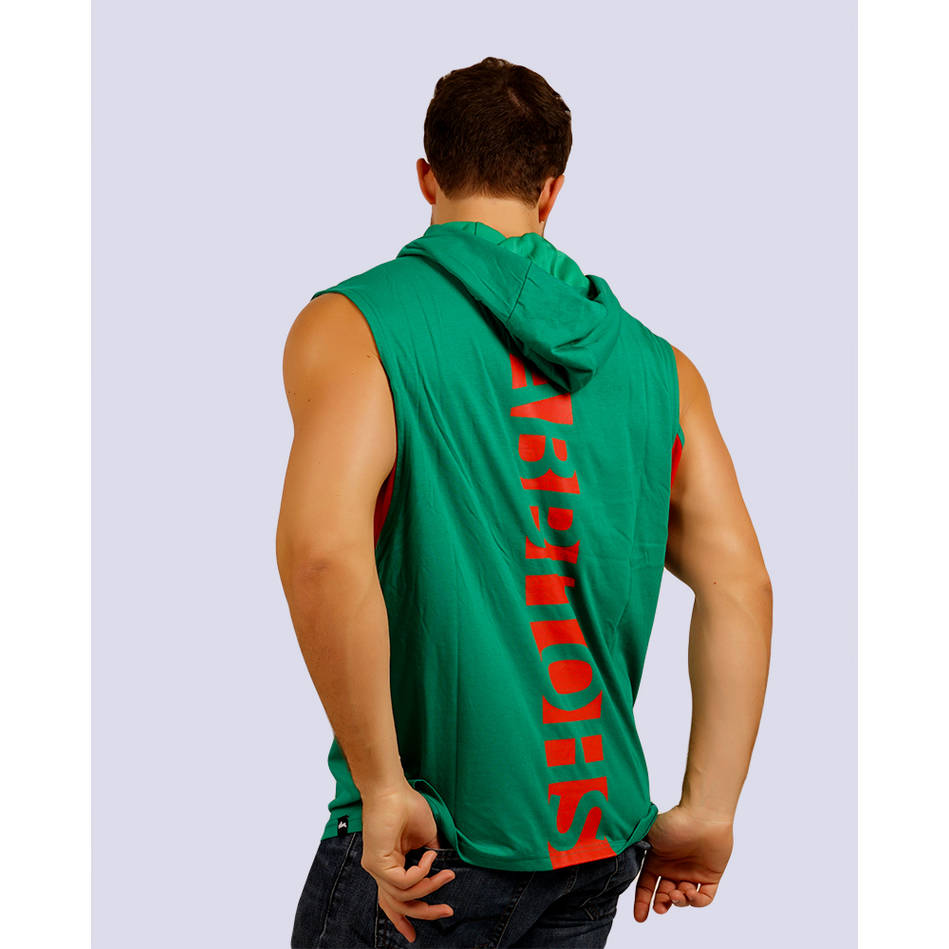 Mens Classic Green Sleeveless Hoody1