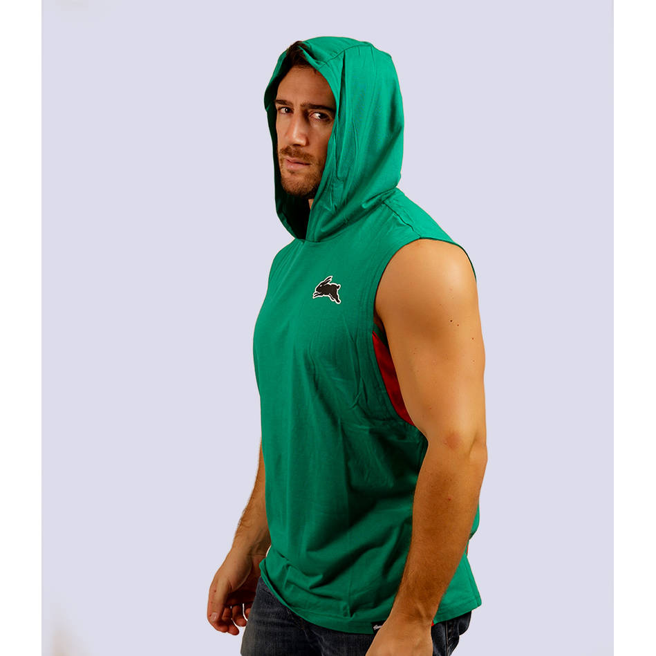 Mens Classic Green Sleeveless Hoody2