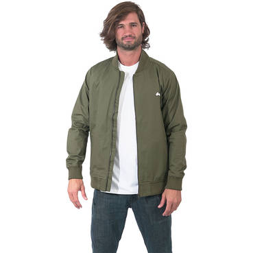 Mens Clean Khaki Bomber Jacket