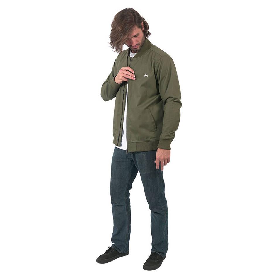 Mens Clean Khaki Bomber Jacket1