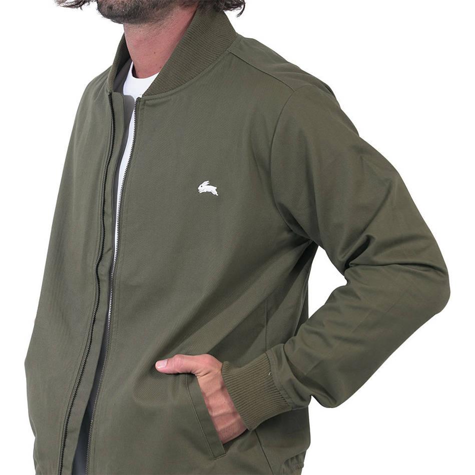 Mens Clean Khaki Bomber Jacket4