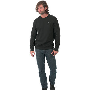 Mens Black Clean Crew Neck