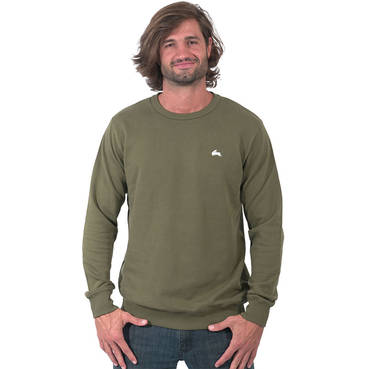 Mens Khaki Clean Crew Neck
