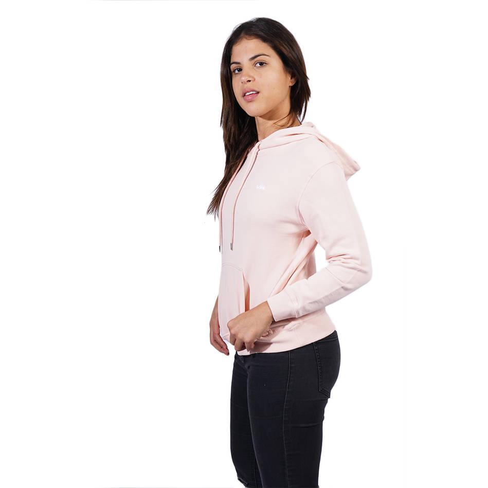 Ladies Pink Clean Hoody0