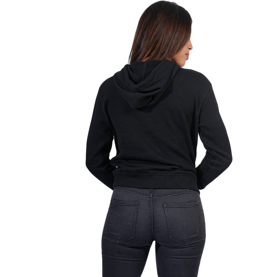 Ladies Black Clean Hoody1