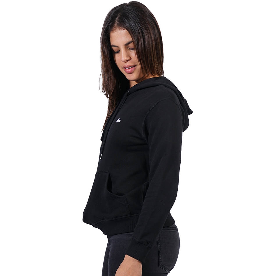 Ladies Black Clean Hoody2