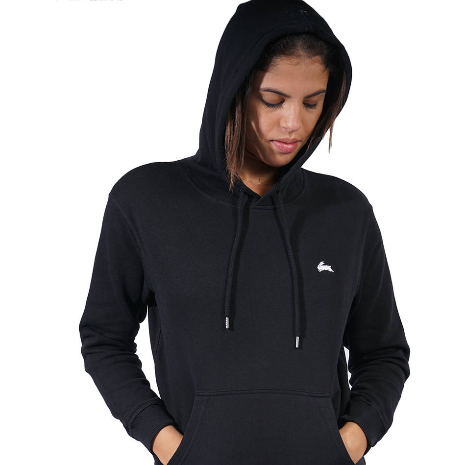 Ladies Black Clean Hoody3
