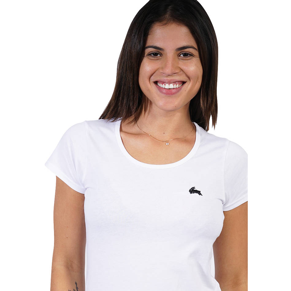 Ladies White Clean Tee0