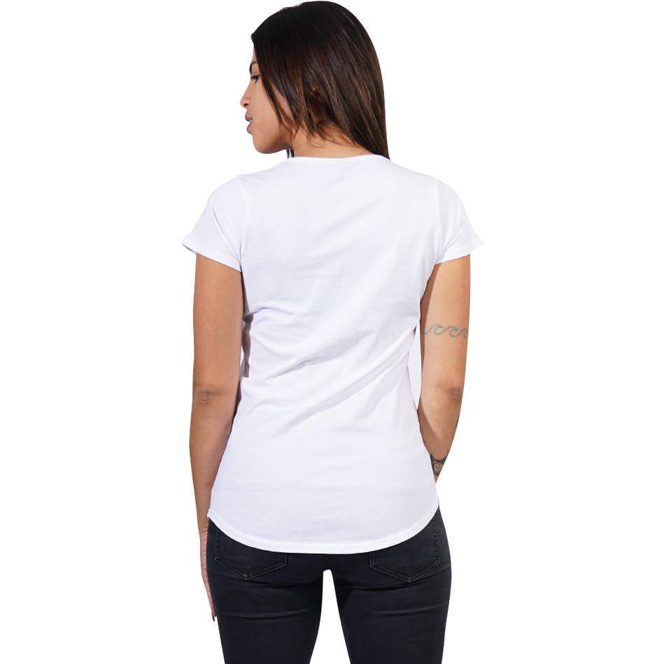 Ladies White Clean Tee1