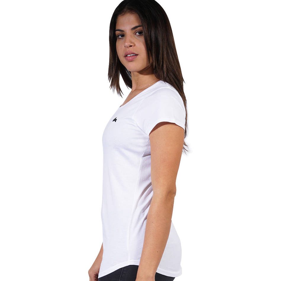 Ladies White Clean Tee2