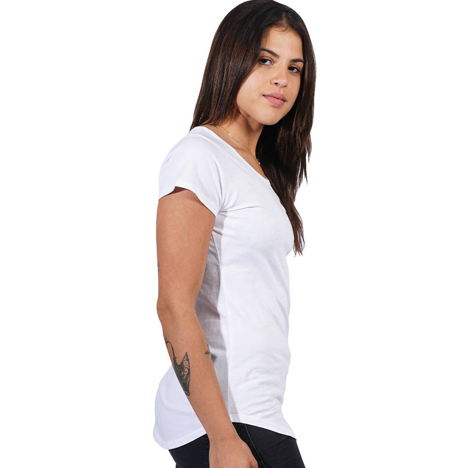 Ladies White Clean Tee3