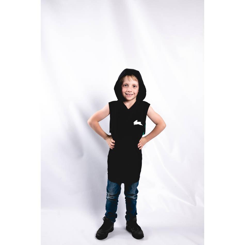 Kids Black Sleeveless Hoody2
