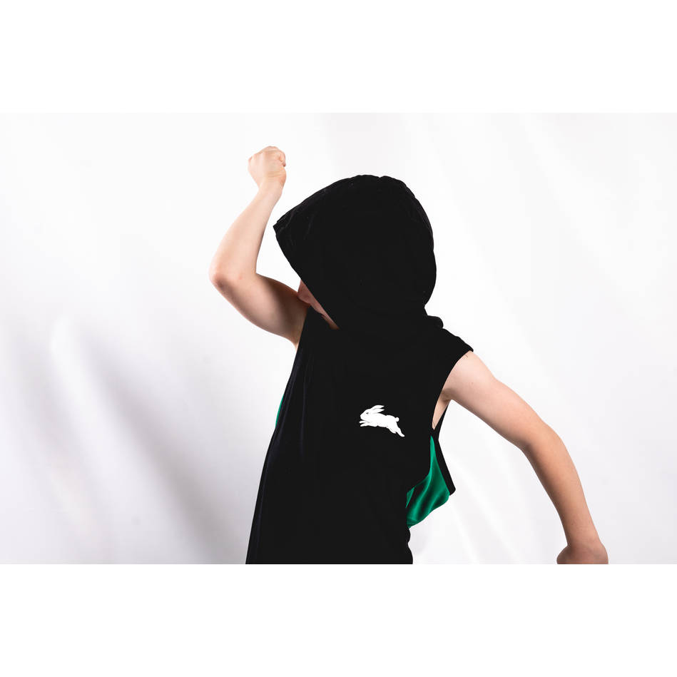 Kids Black Sleeveless Hoody3