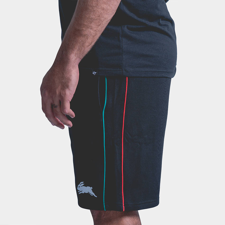 Rabbitohs Stripe Fleece Shorts2