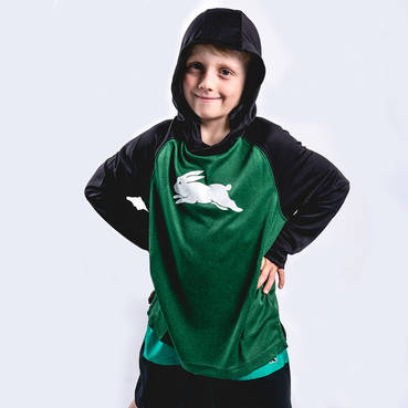 2019 Kids Hooded Warm Up Top