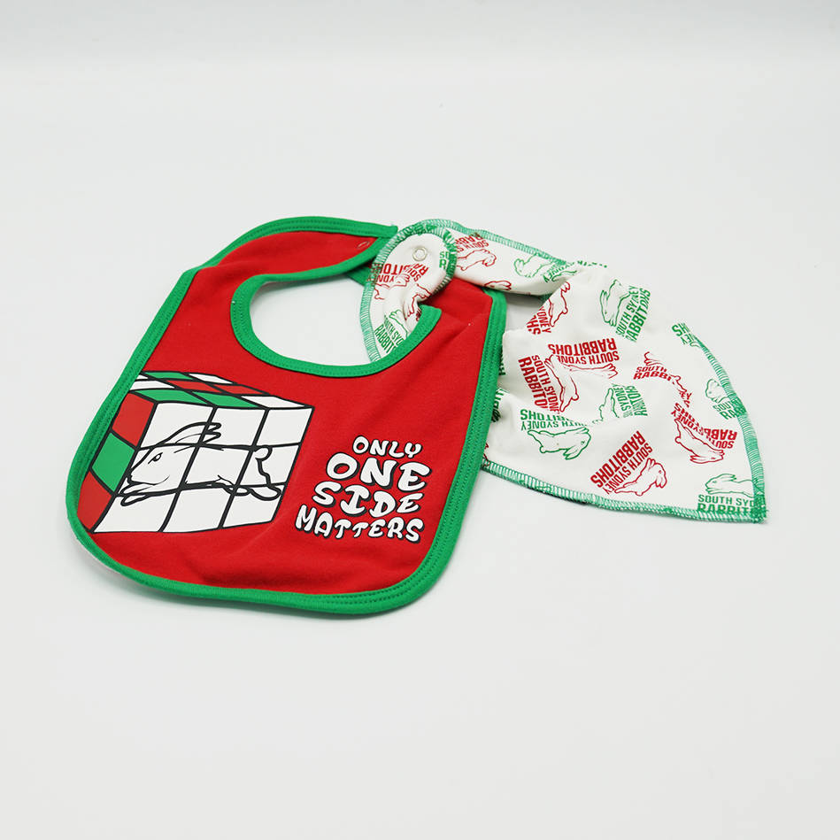 Rabbitohs Infant 2 Piece Bib Set1