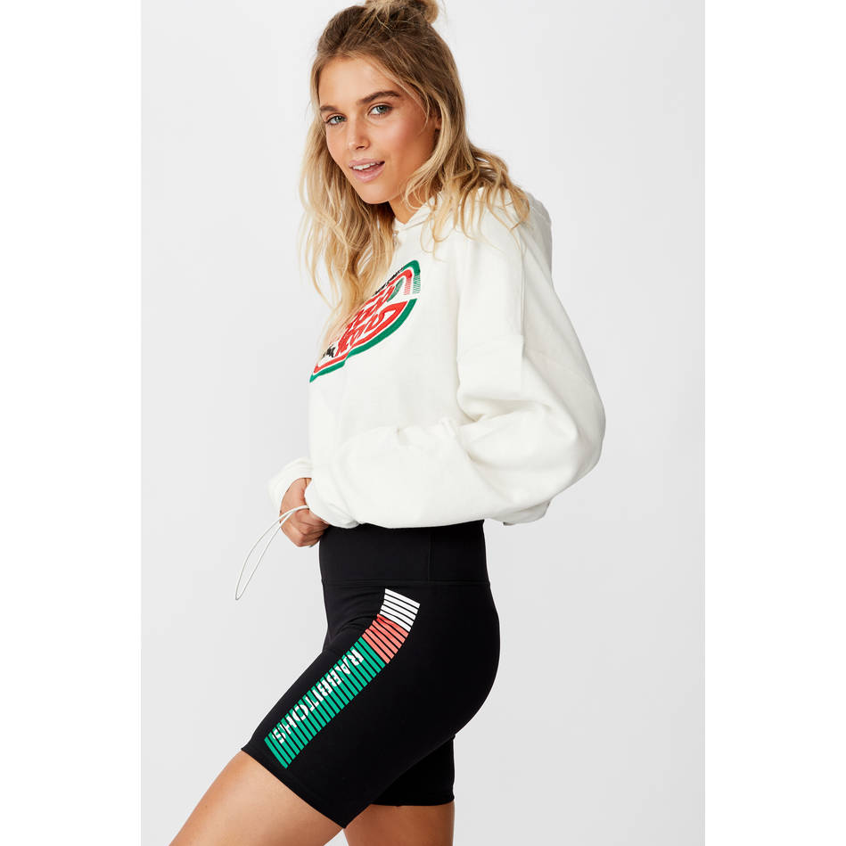 Ladies Stripe Bike Shorts0