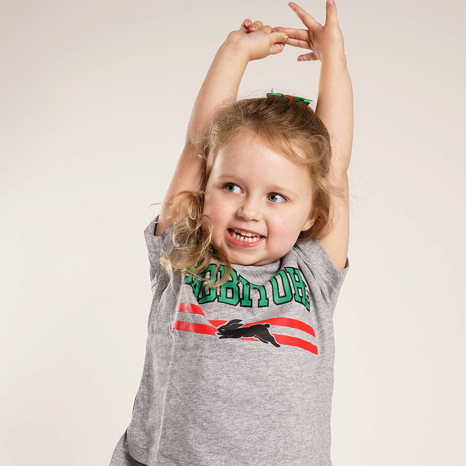 Infant Rabbitohs Heather Tee3