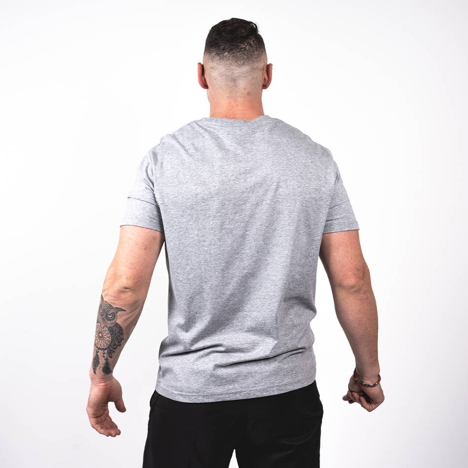 Mens Grey Heathered Tee1