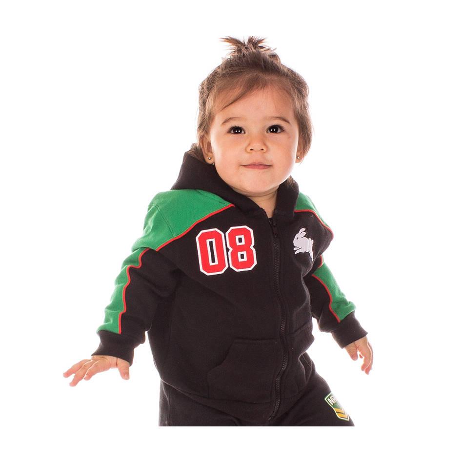 Infants Black & Green Hoody0